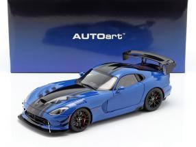 Dodge Viper ACR year 2017 competition blue / black 1:18 AUTOart