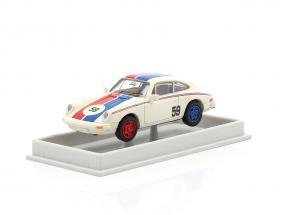 Porsche 911 #59 white / blue / red 1:87 Brekina