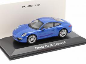 Porsche 911 (991) Carrera S blue metallic 1:43 Welly