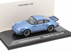 Porsche 911 Turbo year 1974 blue metallic 1:43 Welly