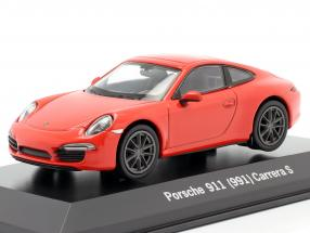 Porsche 911 (991) Carrera S lava orange 1:43 Welly