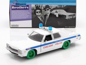 Dodge Monaco Chicago Police Department Blues Brothers 1980 white / green 1:24 Greenlight