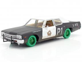Dodge Monaco Bluesmobile Blues Brothers 1980 black / white / green 1:24 Greenlight