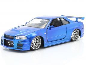 Brian´s Nissan Skyline GT-R (R34) Fast and Furious blue 1:24 Jada Toys