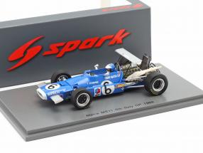 Jean-Pierre Beltoise Matra MS11 #6 5th Italian GP formula 1 1968 1:43 Spark