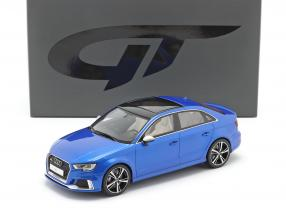 Audi RS3 Sedan year 2018 ara blue 1:18 GT-Spirit