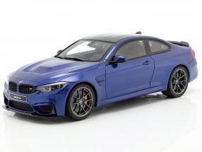 BMW M4 CS (F82) year 2018 San Marino blue metallic 1:18 GT-Spirit