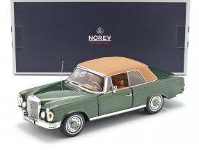 Mercedes-Benz 280 SE (W111) Cabriolet year 1969 green metallic 1:18 Norev