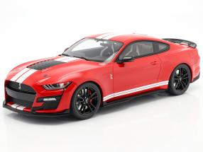 Ford Mustang Shelby GT500 year 2020 red / white 1:12 GT-Spirit