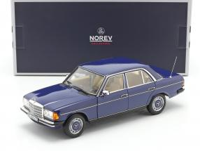 Mercedes-Benz 200 (W123) limousine year 1982 blue 1:18 Norev