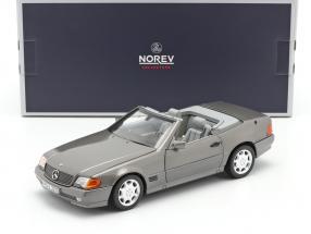 Mercedes-Benz 500 SL (R129) Roadster year 1989 grey metallic 1:18 Norev