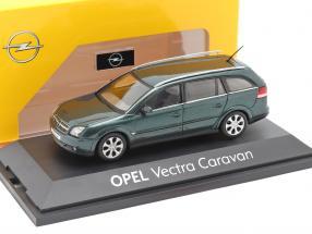 Opel Vectra Caravan dark green metallic 1:43 Schuco