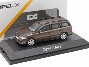 Opel Astra G Estate brown metallic 1:43 Schuco