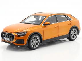 Audi Q8 (4M) year 2018 orange metallic 1:18 Norev