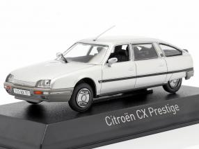 Citroen CX Turbo 2 Prestige year 1986 silver metallic 1:43 Norev