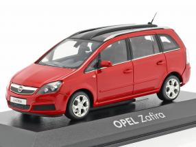 Opel Zafira B with Panorama roof red 1:43 Minichamps