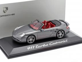 Porsche 911 (997) Turbo Cabriolet year 2007-2009 grey metallic 1:43 Minichamps