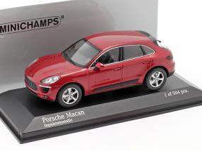 Porsche Macan Year 2013 red metallic 1:43 Minichamps