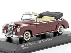 Mercedes-Benz 300 Cabriolet (W186) year 1952 Medium red 1:43 Minichamps