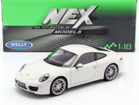Porsche 911 (991) Carrera S Year 2012 white 1:18 Welly
