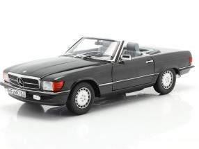 Mercedes-Benz 300 SL Convertible (R107) 1986 blue-black metallic 1:18 Norev