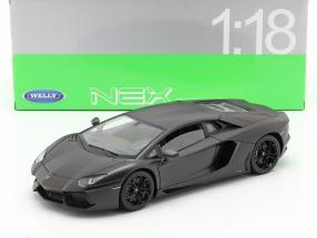 Lamborghini Aventador LP 700-4 Year 2011 mat Grey 1:18 Welly