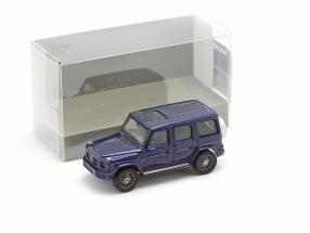 Mercedes-Benz G class (W463) year 2018 blue metallic 1:87 Minichamps