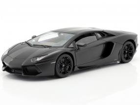 Lamborghini Aventador LP 700-4 year 2011 mat black 1:18 Welly