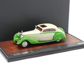 Rolls Royce Phantom II Continental Sports Coupe 1935 green / cream 1:43 Matrix
