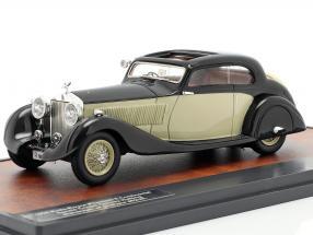 Rolls Royce Phantom II Continental Sports Coupe 1935 black / cream 1:43 Matrix