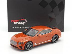 Bentley Continental GT Coupe year 2018 orange flame 1:18 TrueScale