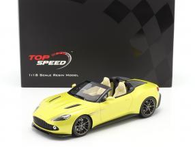 Aston Martin Vanquish Zagato Speedster 2017 cosmopolitan yellow 1:18 TrueScale