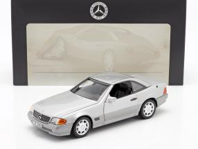 Mercedes-Benz 500 SL (R129) Roadster 1989-1995 brilliant silver metallic 1:18 Norev