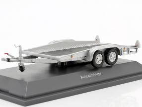 Car trailer silver 1:43 Schuco