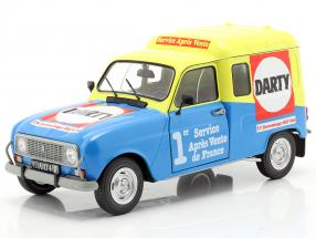 Renault 4 F4 Darty year 1988 blue / yellow