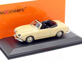 Volkswagen VW Karmann Ghia Cabriolet 1955 cream-beige 1:43 Minichamps
