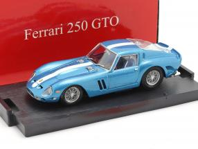 Ferrari 250 GTO built in 1962 metallic blue with white stripe 1:43 Brumm