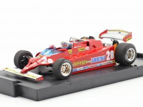 D. Pironi Ferrari 126CK turbo comprex GP USA formula one 1981 1:43 Brumm