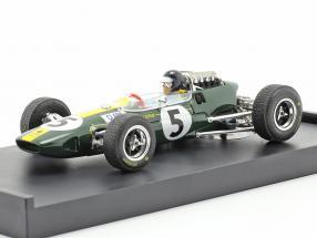 Jim Clark Lotus 33 #5 World Champion Italy GP F1 1965 with figure 1:43 Brumm