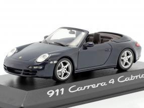Porsche 911 (997) Carrera 4 Cabriolet 2005 dark blue metallic 1:43 Minichamps