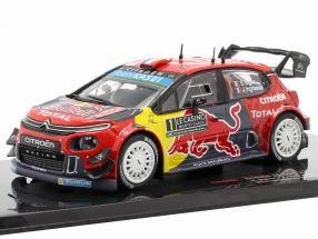 Citroen C3 WRC #1 Winner Rallye Monte Carlo 2019 Ogier, Ingrassia 1:43 Ixo