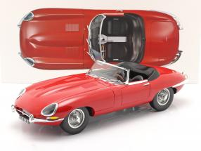 Jaguar E-Type Cabriolet year 1962 red 1:12 Norev