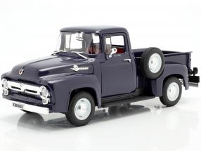 Ford F-100 Pick Up Year 1956 blue 1:18 Welly