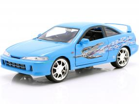 Mia's Honda Acura Integra 1995 Movie Fast & Furious (2001) blue 1:24 Jada Toys