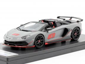 Lamborghini Aventador SVJ Roadster #63 2019 grey / black / red 1:43 LookSmart