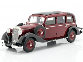 Mercedes-Benz 260 D (W138) Pullman Landaulet 1936 Burgundy red 1:18 Triple9