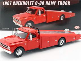 Chevrolet C-30 Ramp Truck year 1967 red 1:18 GMP