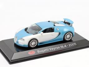 Bugatti Veyron 16.4 year 2015 mat white / light blue 1:43 Altaya
