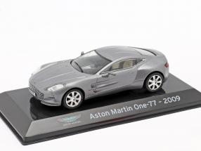 Aston Martin One-77 year 2009 silver grey metallic 1:43 Altaya