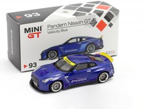 Pandem Nissan GT-R (R35) LHD Duck Tail velocity blau 1:64 True Scale